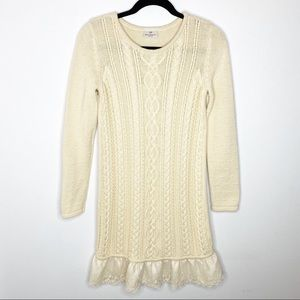 Hanna Andersson Ivory Sweater Dress